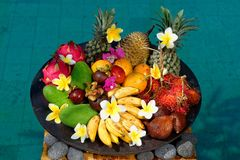 Tropical Exotic fruits Royalty Free Stock Photo