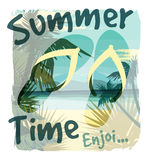Tropical exotic print with slogan for t-shirt graphic and other stock illustration