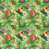 Tropical exotic seamless pattern vector illustration
