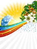 Tropical Exotic Summer Holidays Background. Exotic Paradise for Relaxing Tropical Holidays Royalty Free Stock Images