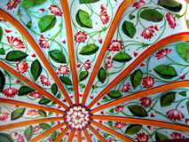 Tropical Fabric Design. A traditional design on the roof of a cabana / hut, in the Indian tropics Stock Image