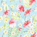 Tropical fabric design. royalty free illustration