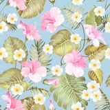 Tropical fabric design. Royalty Free Stock Photography