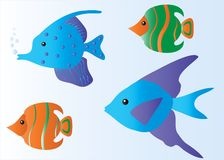Tropical Fish Cartoon Royalty Free Stock Image