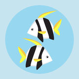 Tropical fish flat icon. Vector illustration Stock Images