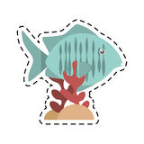 Tropical fish sea habitat graphic coral. Illustration eps 10 Stock Photo