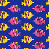 Tropical fish seamless pattern. Attractive and colorful fish Stock Photo