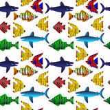 Tropical fish. Seamless pattern. Stock Image