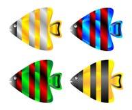 Tropical fish set Royalty Free Stock Photography
