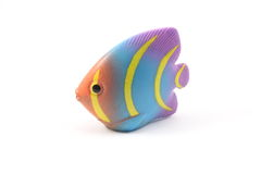 Tropical Fish Toy. A colorful tropical fish toy on a white background Stock Photography