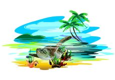 Tropical fish. (Vector) Royalty Free Stock Photo