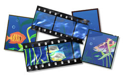 Tropical fishes. The underwater world. An illustration Stock Photography