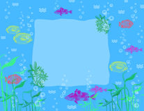 Tropical fishes - background. Royalty Free Stock Images