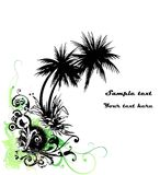 Tropical floral abstract background, Vector Royalty Free Stock Photo
