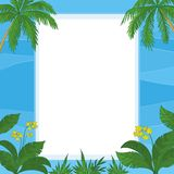 Tropical floral background Stock Photo