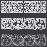 Tropical Floral Carving Pattern. Stock Image