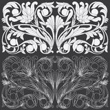 Tropical Floral Carving Pattern. Stock Photos