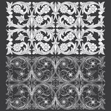 Tropical Floral Carving Pattern. Stock Photo