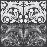 Tropical Floral Carving Pattern. Royalty Free Stock Image