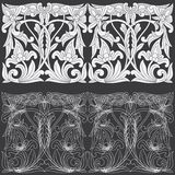 Tropical Floral Carving Pattern. Stock Photography