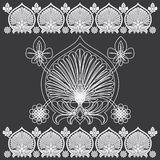 Tropical Floral Carving Pattern. Royalty Free Stock Photography