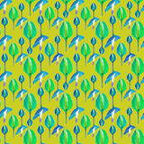 Tropical Floral Orquideas Seamless Pattern Stock Photo