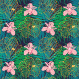 Tropical floral pattern Stock Photos