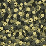 Camouflage Pattern Death Skull in Green colors. Seamless Vector Illustration vector illustration