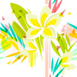Tropical floral seamless pattern Royalty Free Stock Image