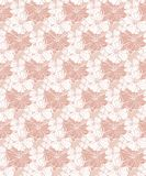 Tropical floral vector seamless pattern in pastel pink tones royalty free illustration