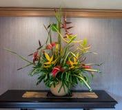 Tropical flower arrangement on Kauai royalty free stock photos
