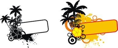Tropical flower copyspace set 1. Tropical flower copyspace set in format vector illustration