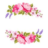 Tropical flower garland. Stock Image