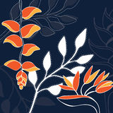 Tropical flower illustration pattern Stock Photography