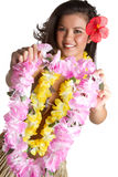 Tropical Flower Lei Woman royalty free stock photography