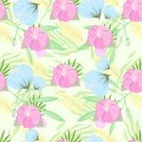 Tropical Flower Pattern. Vector Illustration stock illustration
