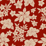 Tropical flowers. Tropical hibiscus flowers pattern design Stock Images