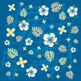 Tropical flowers texture Stock Photos