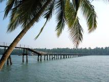 Tropical Foot Bridge stock images