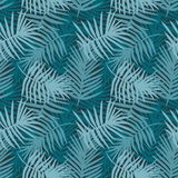Tropical forest decorative turquoise pattern royalty free illustration