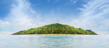Tropical forest, sea coast and mountains. Siamese bay, Phangan Stock Photography