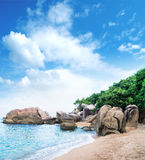 Tropical forest, sea coast and mountains Stock Image