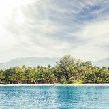 Tropical forest, sea coast and mountains Stock Photos