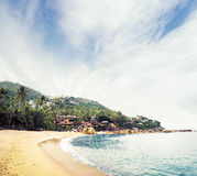 Tropical forest, sea coast and mountains Royalty Free Stock Photo