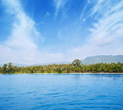 Tropical forest, sea coast and mountains Stock Images