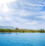 Tropical forest, sea coast and mountains Royalty Free Stock Photography
