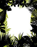 Tropical forest silhouette Royalty Free Stock Photography