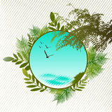 Tropical frame Royalty Free Stock Images