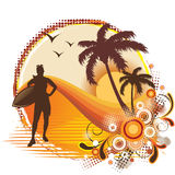 Tropical Frame royalty free illustration