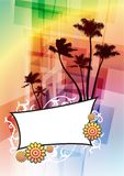 Tropical Frame on Abstract Background Stock Photography